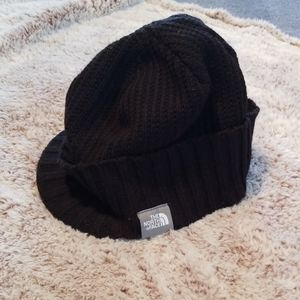 Black The North Face unisex winter hat